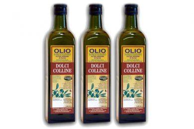 Olio biologico in bottiglie
