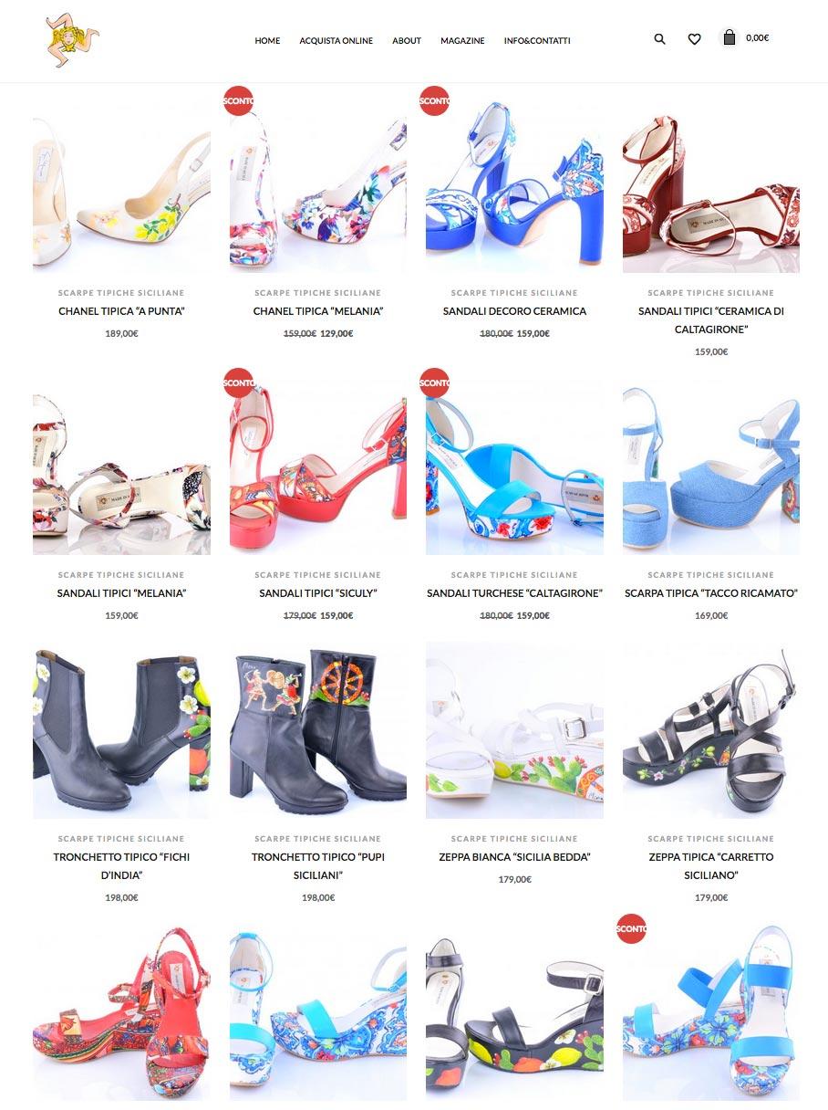Acquista online scarpe tipiche siciliane di qualità. Su madeinsicilyshop.it potrai scegliere tra un vasto assortimento di scarpe eleganti, casual e sportive.